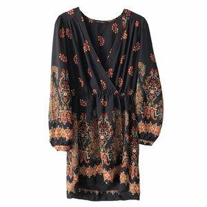 Honey Punch Boho Long Sleeve Dress medium